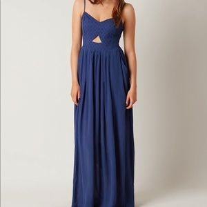 Cut out lace up maxi